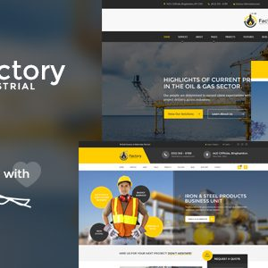 Download Factory Industrial - Engineering PSD Template