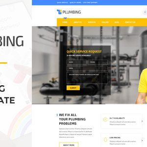 Download Plumbing - Handy Man PSD Template