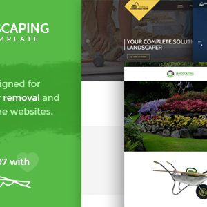 Download Landscaping - Snow Removal & Construction PSD Template