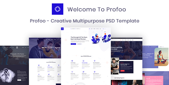 Download Profoo – PSD Template For Creative Agency