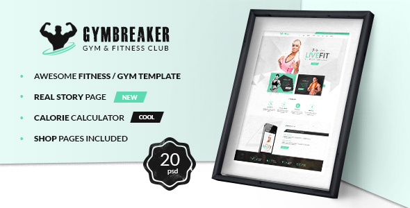 Download GymBreaker - Fitness PSD Template