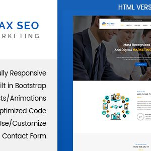 Download Max Seo - Marketing HTML Template
