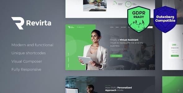 Download Revirta   Virtual Assistant WordPress Theme