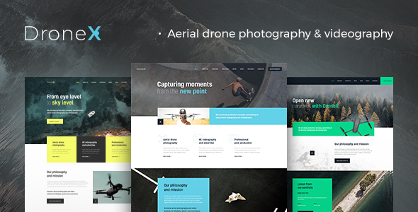 Download DroneX | Aerial Photography & Videography WordPress Theme