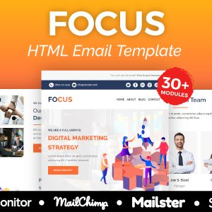Download Focus Agency - Multipurpose Responsive Email Template 30+ Modules - Mailster & Mailchimp