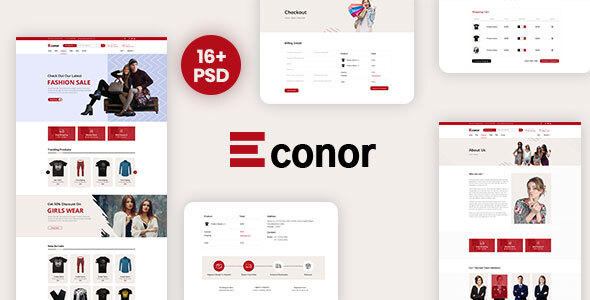 Download Econor – Ecommerce PSD Template