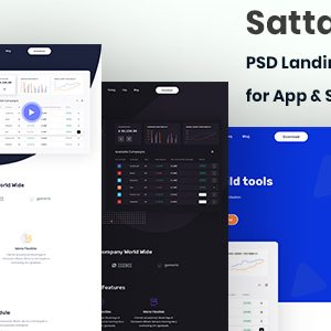 Download Sattari.-PSD Landing Page Template for App & Saas