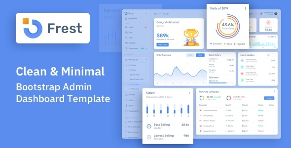Download Frest - Clean & Minimal Bootstrap Admin Dashboard Template