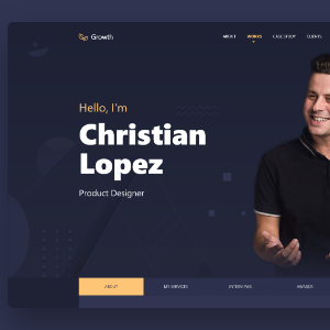 Download Growth – Personal Portfolio Template