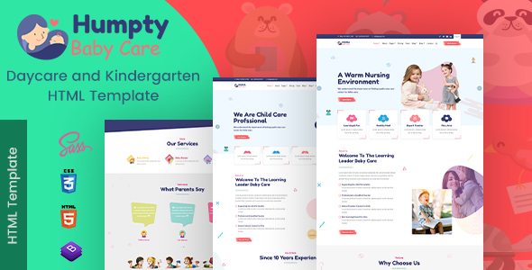 Download Humpty | Daycare & Preschool HTML Template