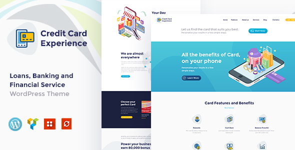 Download Credit Card Experience   Loan Company and Online Banking WordPress Theme