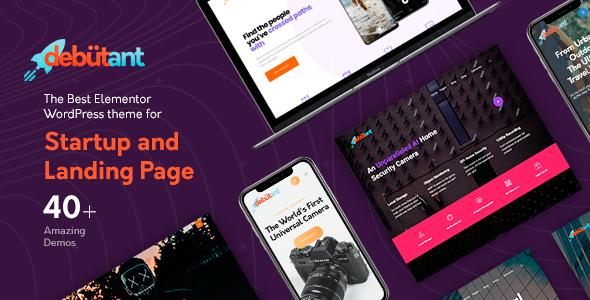 Download Debutant - Landing Page WP theme